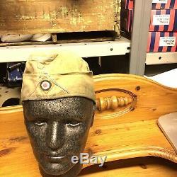 Ww2 German Side Cap Original Very Rare