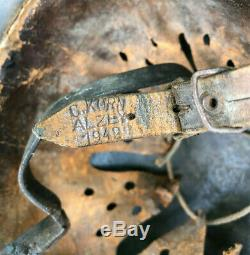 Ww2 German Steel Helmet Complete All Wartime Original, Untouched. Quist Shell
