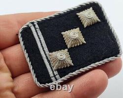 Ww2 German Waffen Officer Rank Collar Tab Tunic Removed Original Ss Totenkopf Tk
