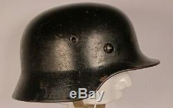 Ww2 German Wehrmacht M40 Bell Helmet Stamped Se64, 8204 Original Lining