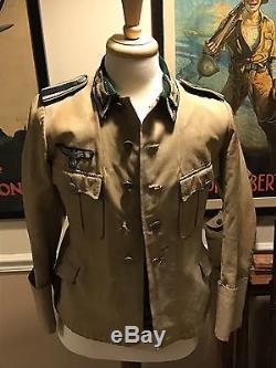 Ww2 Original Heer Untteroffizier Tunic German Jacket Collar Tab Afrikacorp