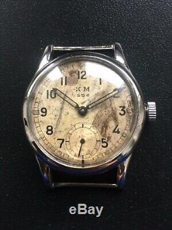 Ww2 Original Military German Watch Kriegsmarine Km 592 Alpina Wehrmacht Serviced