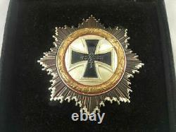 Ww2 Vet German Cross 1957 Medal Badge Award In Case Known Owner Infantery Wh