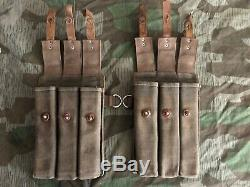 Ww2 Wwii German Paouches Canvas Wehrmacht Military Field Original