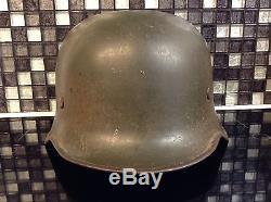 Ww2 german M36 army issue steel, green original helmet
