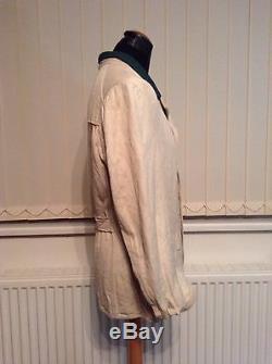 Ww2 german NCO work tunic, HBT, reed green collar. Original example