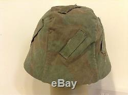 Ww2 german helmet camo cover, reversable to snow(original) No 1
