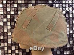 Ww2 german helmet camo cover, reversible to snow(original)no 2