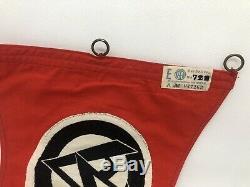 Ww2 german militaria original pennant SA RZM Tag