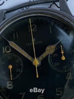 WwII Glashutte Tutima German Military Luftwaffe Pilot Chronograph Cal Urofa59