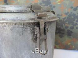 Wwi Wwii Original German Aluminum Mess Kit Food Container Can Xtr. Rare