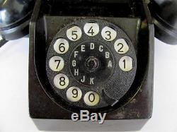 Wwii 1942 Original German Headquarters Bakelite Telephone Marked V. Rare