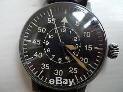 Wwii Luftwaffe Laco B-uhr Fl 23883 German Pilot Observer Watch Original Vintage