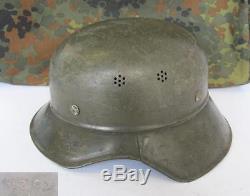 Wwii Original German Luftshultz Gladiator Helmet Marked