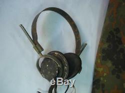 Wwii Original German Radio Headphones Siemens Drgm