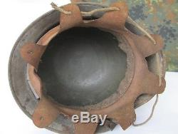Wwii Original German Transitional M17 Elite Forces Helmet Xtr. Rare