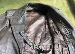 Wwii Original German Wehrmacht Officer Leather Greatcoat
