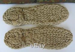 Wwii Original German Winter Guard Boots Insulating Hemp Insoles Rare