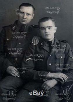 Wwii Ww2 Original German Latvian Waffen Elite Volunteer Oak Silver Skull Ring